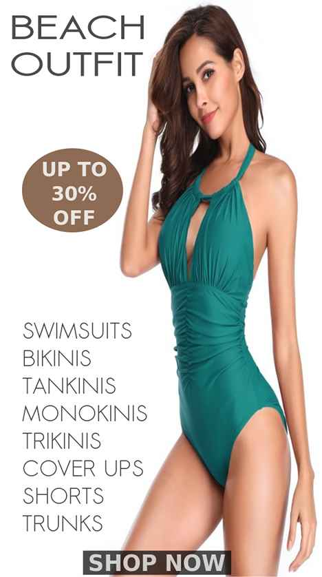 Exclusive Collection Of Latest Swimsuits, Bikinis, Trikinis, Tankinis, Monokinis, Beachwear, Beach Outfit, Beach Cover Ups, Trunks, Briefs, Bathing Suits, Swimming Suits And Cool Summer Outfit For Women At Big Deals And Discounts Of Up To 40% Off At Shopperwear Fashion