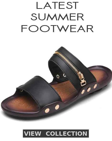 New Arrival Summer Footwear, Shoes, Sandals, Beach Slippers, Home Slippers, Flip Flops, Breathable Shoes, Sneakers, Boots, Leather Sandals, Loafers, Espadrilles, Creepers, Oxford Shoes, Dress Shoes And Cool Summer Shoes For Men At Discounts Of Up To 30% Off This 2020