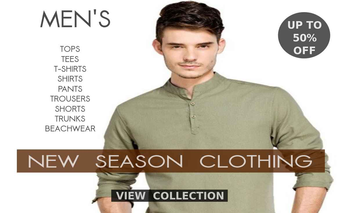 Buy Fresh Collection Of Cool Summer Dresses, Tops, Tees, T Shirts, Shirts, Formals, Casual Clothing, Shorts, Trunks, Briefs, Pants, Trousers, Tanks And Sleeveless Vests For Men At Shopperwear Fashion With Mouth Watering Deals And Discounts Of Up To 30% Off This 2020