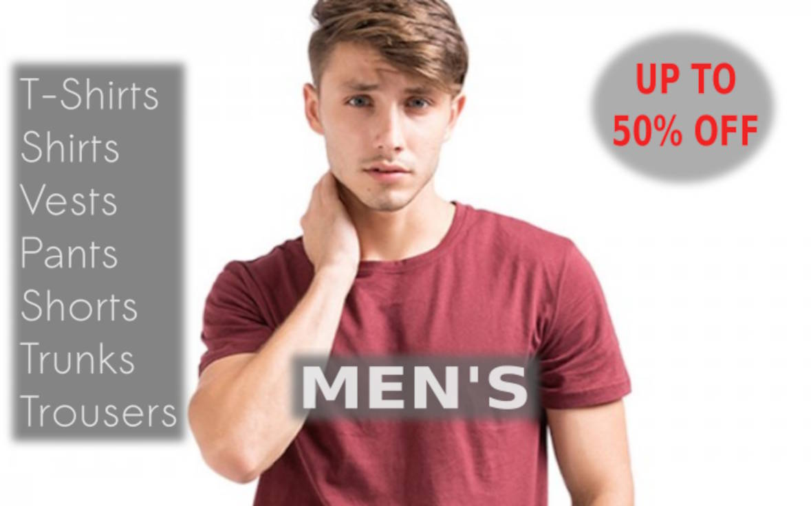 Clothing For Men - Online Shopping - Latest Collection Of Summer Apparel, Tops, Tees, T-Shirts, Vests, Shorts, Pants, Trousers, Denims, Jeans, Trunks, Shirts, Jackets And Cool Summer Outfits For Men At Exclusive Offers Of Up To 50% Off This Season On Shopperwear Fashion