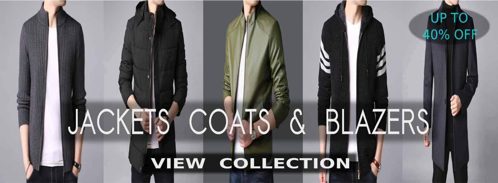 Stylish And Top Quality Jackets, Coats, Blazers, Denims, Sweaters, Cardigans, Parka Jackets, Leather Coats, Knitted Vests, Trench Coats, Hoodies And Pullovers For Men At Cheapest Price With Discounts Of Up To 30% Off On Shopperwear Fashion