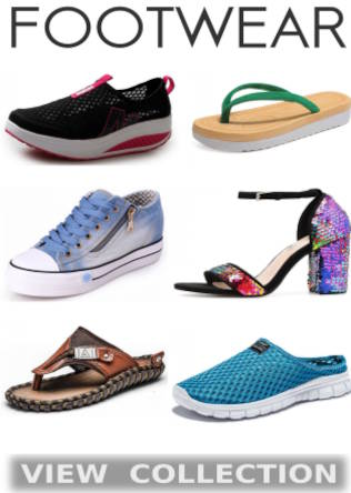 Buy Classy Exclusive Summer Footwear, Shoes, Sandals, Slippers, Flip Flops, High Heels, Flat Heels, Wedge Heels, Party Sandals, Beach Footwear, Sneakers And Boots For Men And Women At Mouth Watering Discounts Of Up To 50% Off Only On Shopperwear Fashion