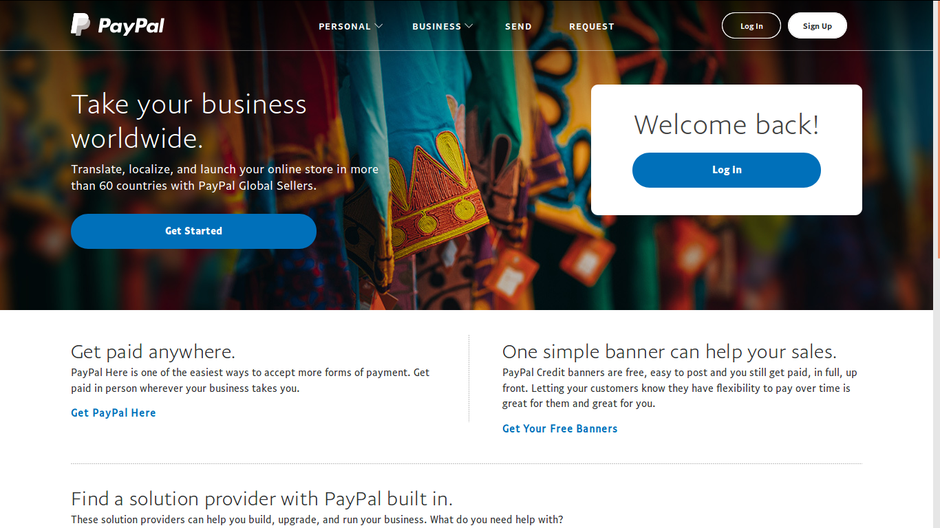 Paypal Web Front
