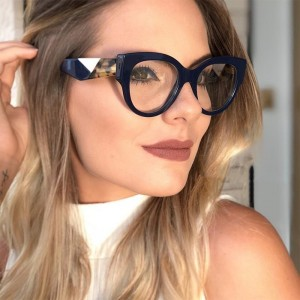 2019 Female Cat Eye Glasses Spectacle Frame Women Eyeglasses Computer Myopia Vintage Ladies Eyewear Clear Lens Glasses