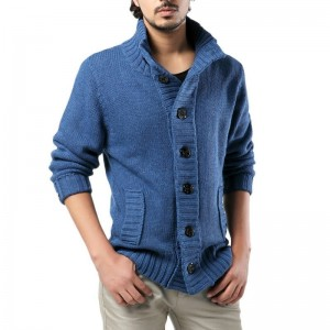 2019 Mens Thick Sweater Coat Slim Fit Winter Knitted jacket Male stand collar Casual Cardigan Sweaters Plus Size S 3XL