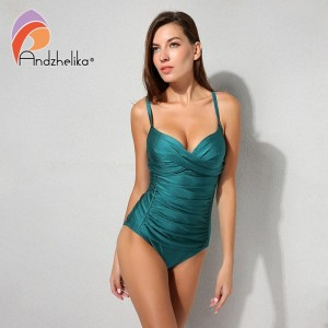 2019 New Women One Piece Swimsuit Solid Sexy Fold Swimwear Swim Suits Bodysuit Summer Beach Bathing Suit