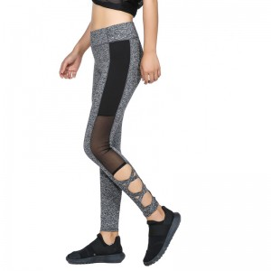 Activewear Mesh Legging Sexy Grey Leggins Black Leggings Spliced Women Autumn Winter Workout Leggings High Waist