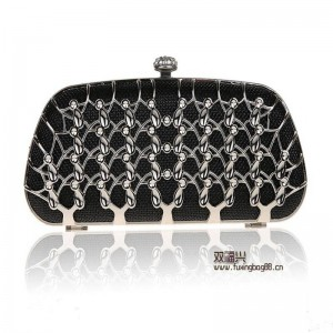 Alloy Long Rhinestone Clutch Evening Bags Cosmetics Small Case For Wedding Party Dinner Banquet Clutches Thumbnail