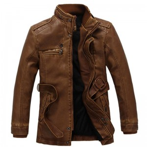 Autumn and winter new jacket male PU men leather jacket and jacket fashion leather motorcycle coat brand clothing