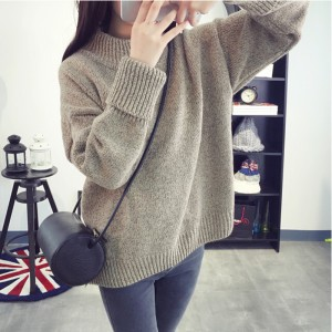 HDY Haoduoyi Apparel Women Sweaters Casual Solid Color Knitted ...