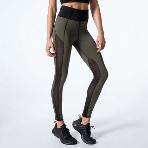 Autumn Mesh Solid Color Fitness Leggings Women Skinny High Waist Workout Leggings Push Up Leggings Stretch Leggins