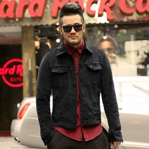 Autumn new slim fit velvet jacket shirt men British style men black short jacket casual brand clothing chaqueta hombre