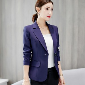 Autumn Suits New Womens Clothes Formal Office Work Blazer One Button Long Sleeve Top Slim Suit Casual Jacket