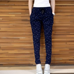 Autumn Summer Women Clothing Casual Loose Printed Elastic Pencil Pants For Women Thumbnail