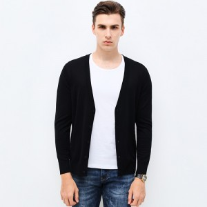 Autumn Winter Fashion Brand Clothing Men Knitted Sweater Solid Color Slim Fit Cardigan High Quality Sweaters For Men