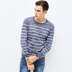 Autumn Winter Fashion Brand Clothing Pullover Striped Mens Sweater High Quality Slim Fit O Neck Sweaters For Men