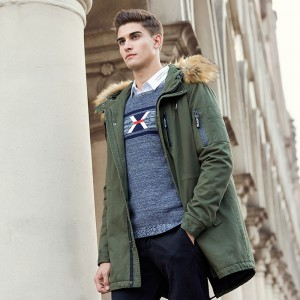 Autumn winter jacket men brand clothing cotton coat male fashion camouflage parkas men military long jacket for men