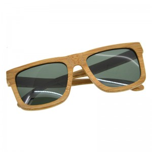 Bamboo Sunglasses Luxury Wooden Vintage Classic New Fashion Comfortable Polarized Eyewear With Oval Design