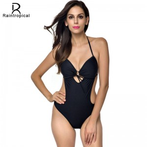 Bandage Backless Halter Top Monokini Swimsuits For Female Beach Summer Dress Bathing Suits Swimming Suits