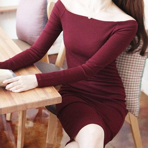 Beforw Long Sleeve Winter Autumn Fashion Dress Maxi Bodycon Dress For Women Thumbnail