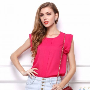 Blouses Chiffon Summer Clothing New Ruffle Latest Tops For Women Latest Thumbnail