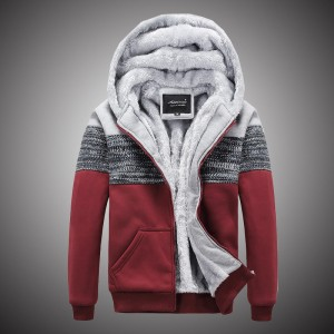 Bomber Jacket Men Thick Windbreaker Overcoat Winter Warm Patchwork Mens Jackets Casual Hooded Male Brand Clothing