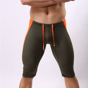 Brave Person Shorts Fit Gym Fitness Beach Wear Swim Shorts Men Swimwear Low Rise Mesh long Swimming Trunks