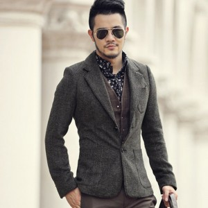 Casual Men Blazer business Slim fit Costume Homme Suit Blazer Masculino Male Woolen Suits Jacket blazer hombres