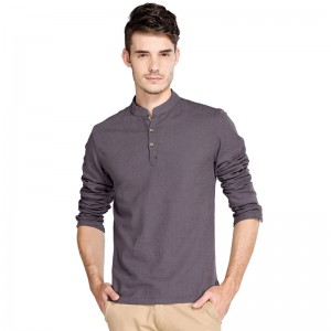 Casual Retro Shirts Men Cotton Linen Loose Fit Man Shirts Long Sleeve Pullover Shirts For Men Clothes Summer Wear