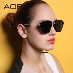 Cat Eye Sunglasses Women Fashion Luxury Original Design Sun Glasses Reflective Mirror Lens Gafas de sol UV400