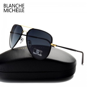 Classic Polarized Pilot Aviator Sunglasses For Men High Quality Driving Sunglasses Sun Proof Eyewear