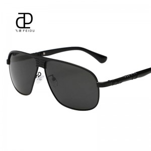 Classic Polarized Sunglasses For Men Driving Polaroid Alloy Frame Adult Eyewear Fully Customized Sun Shades