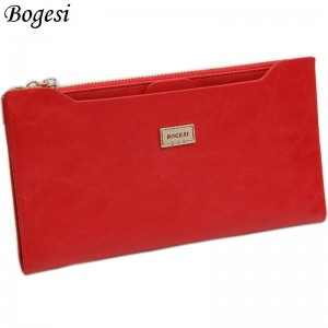 Coin Bag Wallet For Women With Zipper Thin Long Female Purse Passport Holder ID Card Holder Thumbnail