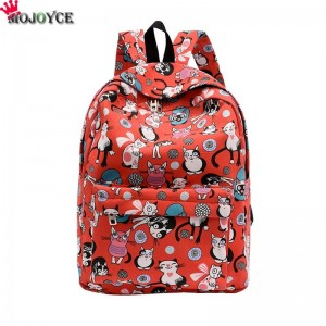 Cute Backpacks High Quality Women Backpacks Cartoon Printed Cat Pattern School Bag For Teenagers Feminina Bags