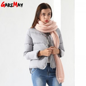 Down Coat Female Jacket Short White Winter Coat Garemay Warm Outwear Clothing For Women Jacket Down Parka