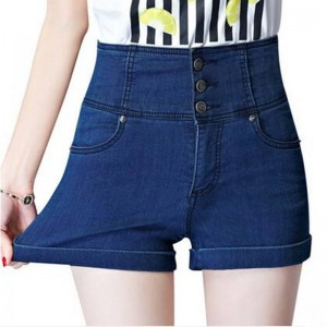 Elastic Waist Creative Fashion Single Breasted Korean Style New Arrival Shorts For Women Thumbnail