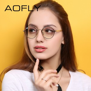 Elegant Oval Plain Eyewear Fashion Women Brand Designer Metal Frame Glasses Clear Lens Eyeglasses High Quality