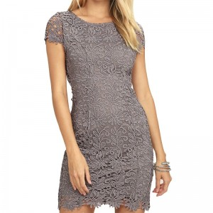 Elegant Women Crochet Dress Sexy Hollow Out Short Sleeve Party Dress Special Stylish Vestidos Dress For Ladies