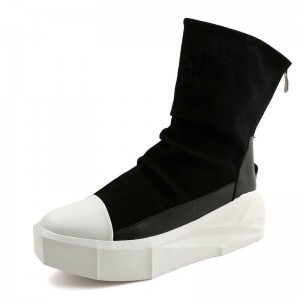 European Men Creepers Irregular Sole Ankle Boots Punk Style For Men Thumbnail