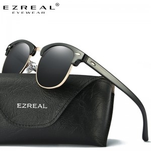 EZREAL Brand Classic Black Polarized Sunglasses Men Women Driving Sun Glasses For Man Shades Eyewear With Box