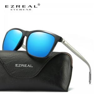 EZREAL Brand Classic Polarized Sunglasses Men Driving Square Black Frame Eyewear Male Sun Glasses For Men Women