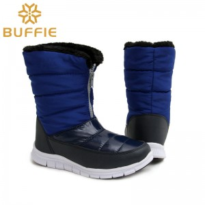 Fashion Ladies Boots Warm Autumn Winter Shoes Fur Lining Royal Blue Boots Female High Quality Shoes
