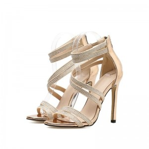 Fashion Party Sandals For Women High Heel Sexy Wedding Festive Sandals Summer Style Rhinestone Shoes