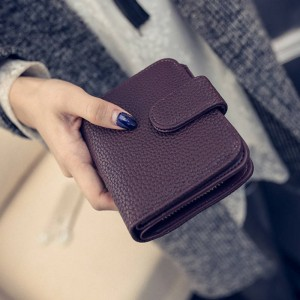 Fashion Women Black Leather Wallet Coin Purse Money Bag Small Wallet Mini Purse Card Holder Thumbnail