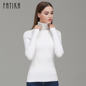 Fashion Women Turtleneck Full Sleeve Brief Slim Pullovers Solid Elegant Knitted Skinny Sweater Jumpers For Ladies