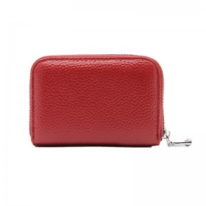 Fashion Womens Short Zipper Purse Wallet Genuine Leather Wallet Credit Card Holder Wallet For Women