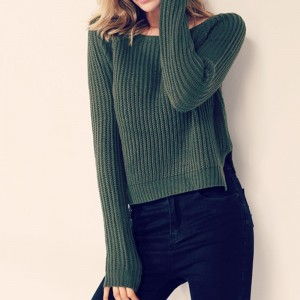 Fashion yellow sweaters for women autumn winter knitted jumper sueter mujer side slit ladies sweater pull clothes