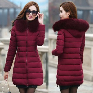 Fionto Thick Warm Hooded Winter Manteau Parka Jackets For Women Thumbnail