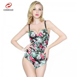 Floral Printed Backless Swimwear For Ladies Vintage One Piece High Quality Push Up New Arrival Bikini Set