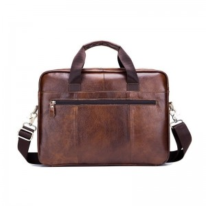 Genuine leather Briefcase for men vintage business computer bag fashion messenger bags shoulder bag postman Handbags